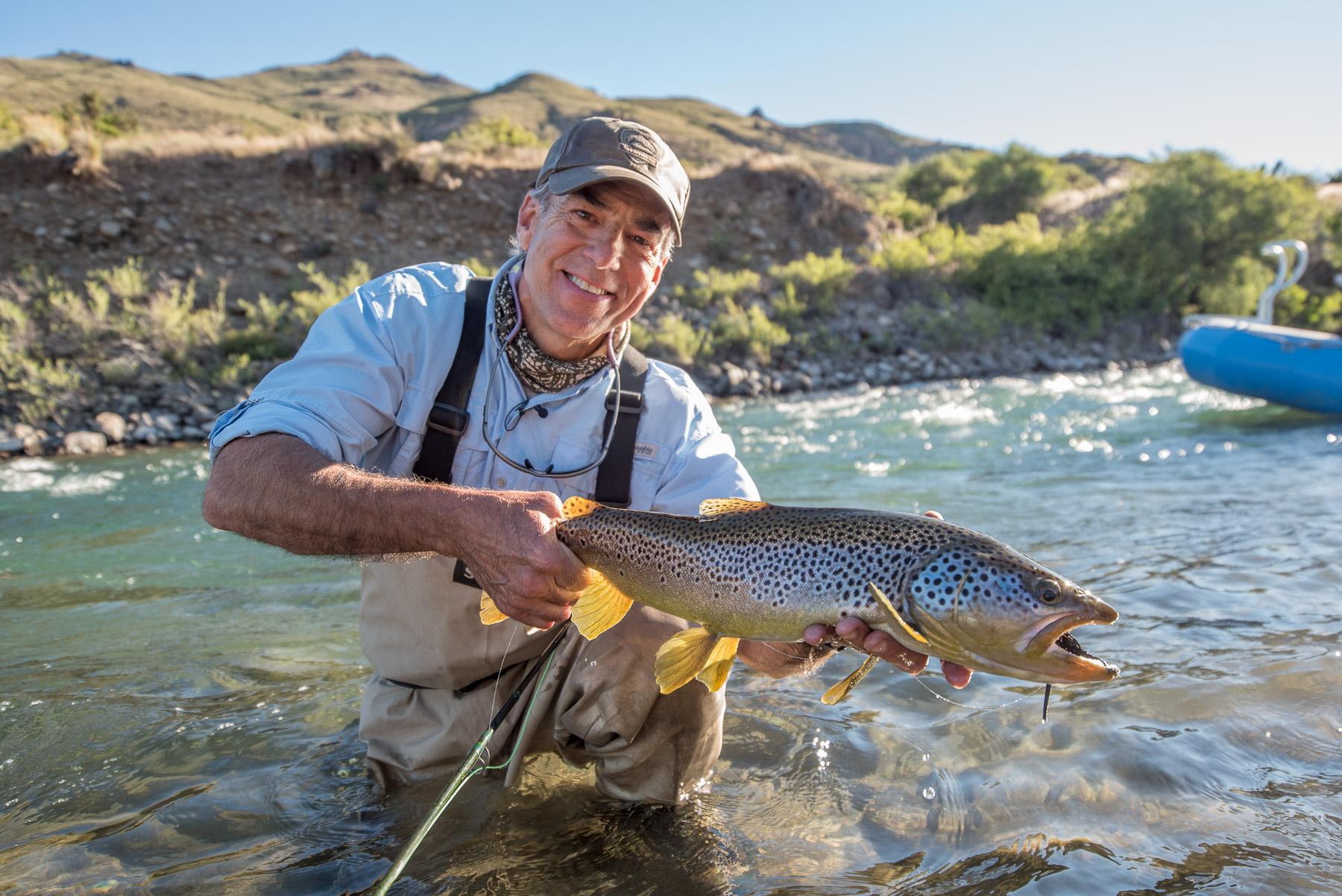 fishing in Patagonia - Patagonia Fly Fisherman, William Jack Stephens